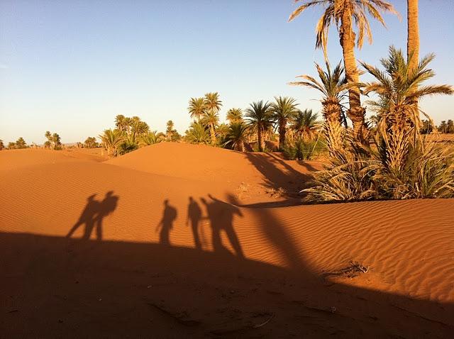 Camel trek to desert erg chegaga